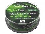 MediaRange DVD+R 4,7 GB 16x, 25 szt.