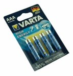1x4 Varta High Energy Micro AAA LR 03 German