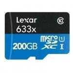 Lexar microSDXC 633x UHS-I 200GB with USB 3.0 Reader