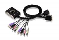 ATEN 2-Port USB 2.0 DVI KVM Switch CS682, czarny