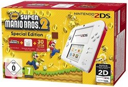 Nintendo 2DS biały-red plus New Super Mario Bros. 2