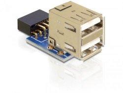 DeLOCK USB-Pinheader-Buchse-Adapter 2x USB 2.0