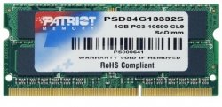 Patriot SO-DIMM 4 gb ddr3-1333 psd34g13332s