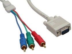 Przejściówka InLine VGA D-SUB na 3x Cinch RGB - 2m