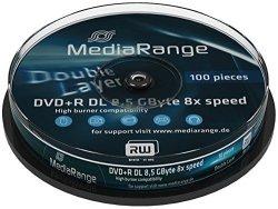 MediaRange DVD+R DL 8,5 GB 8x, 10 szt.