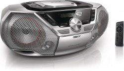 Philips AZ783/12 - boombox - srebrny - CD - radio - USB