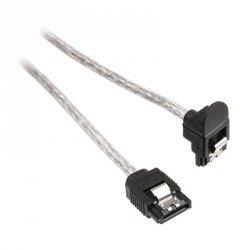 InLine SATA III (6Gb/s) kabel kątowy okrągły przeźroczysty - 30 cm