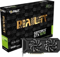 Palit GeForce GTX 1070 Dual 8GB GDDR5 (256 Bit) HDMI, DVI, 3x DP, BOX (NE51070015P2D)