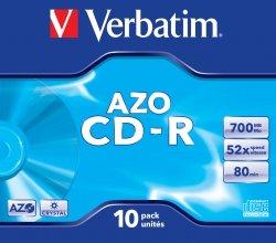 1x10 Verbatim Data Life plus CD-R 80 / 700MB, 52x Speed JC