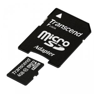Transcend microSDHC Card Class 10, czarny