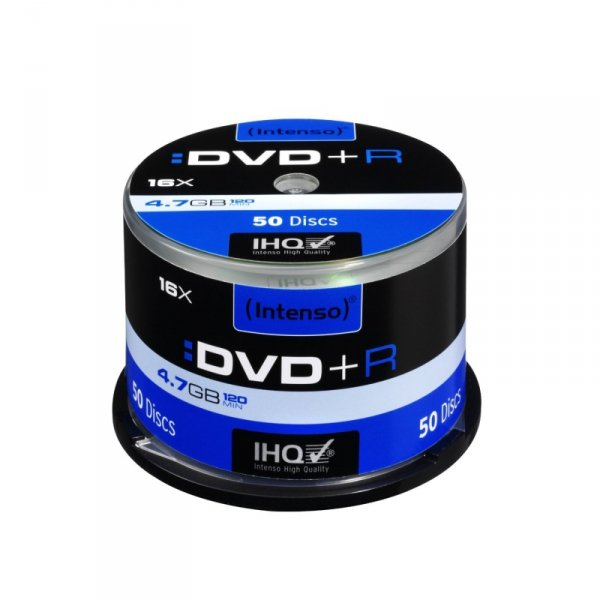 1x50 Intenso DVD+R 4,7GB 16x Speed, Cakebox