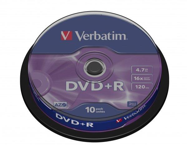 Verbatim DVD+R 4,7 GB 16x, 10 szt.