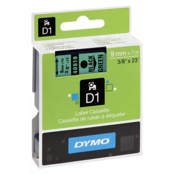 Dymo Taśma D1 9MM black/GN