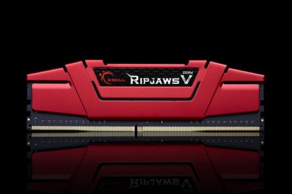 G.Skill 16GB DDR4-2400 Kit, czerwony F4-2400C15D-16GVR, Ripjaws V
