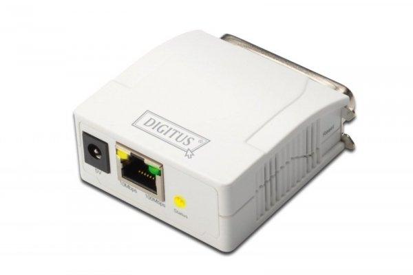 Digitus Serwer druku LPT / RJ45 - udostepnianie drukarki w sieci