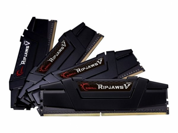 G.Skill 32 GB DDR4-3200 Quad-Kit, czarny, F4-3200C16Q-32GVK, Ripjaws V