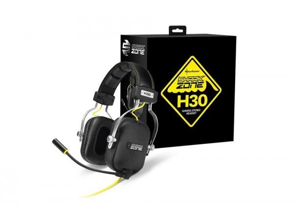 Sharkoon SHARK ZONE H30 - słuchawki z mikrofonem - dla graczy