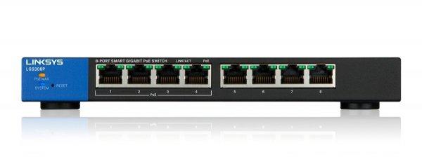 Linksys Smart Switches PoE 8-port            LGS308P-EU