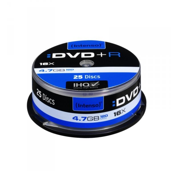 1x25 Intenso DVD+R 4,7GB 16x Speed, Cakebox