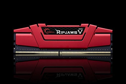 G.Skill 32 GB DDR4-2400 Kit, czerwony F4-2400C15D-32GVR, Ripjaws V