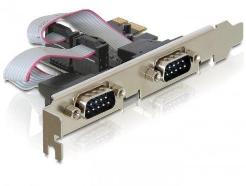 Delock PCI Express Karta 2xPort Szeregowy +l LP