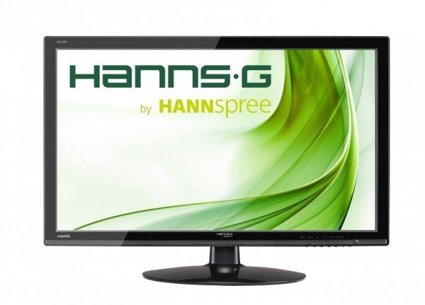 HannsG HL274HPB, czarny, HDMI, DVI-D (HDCP), Sound