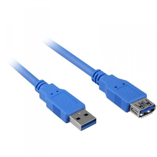 Sharkoon USB 3.0 przedłużacz blue 3,0m