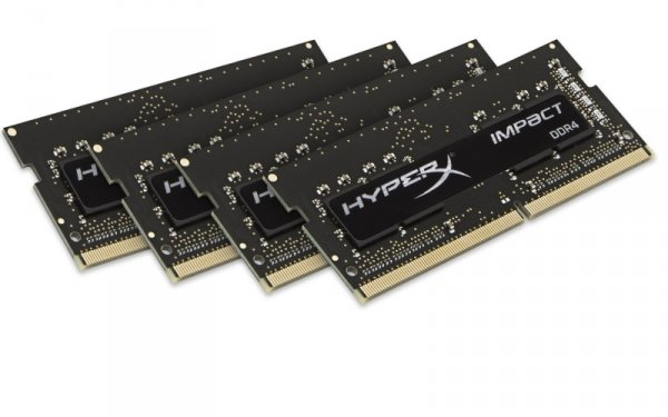 Kingston HyperX SO-DIMM 16 GB DDR4-2400 Quad-Kit, HX424S15IBK4/16, Impact