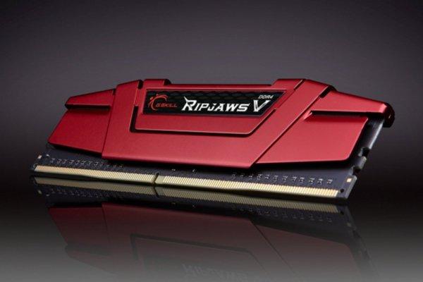 G.Skill 16GB DDR4-3000 Kit, czerwony F4-3000C15D-16GVR, Ripjaws V