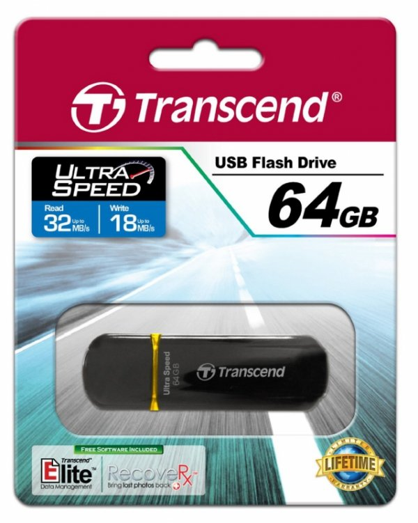 Transcend JetFlash 600 64 GB Dual-Channel, czarny