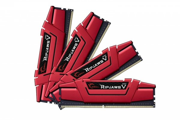 G.Skill 64 GB DDR4-3200 Quad-Kit, czerwony F4-3200C15Q-64GVR, Ripjaws V