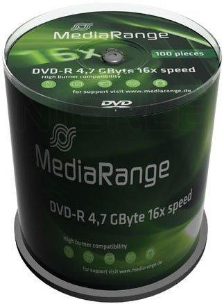 MediaRange DVD-R 4,7 GB 16x, 100 szt.