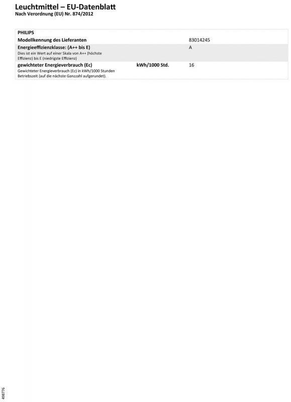 Philips SPL E27 W-wh Softone 16W
