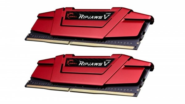 G.Skill 32 GB DDR4-3.200 Kit, czerwony F4-3200C15D-32GVR, Ripjaws V