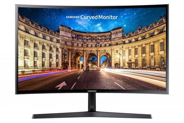 Samsung C27F396FH, czarny, HDMI (HDCP), VGA, AMD FreeSync, Curved