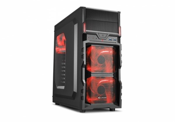 Sharkoon VG5-W red, Tower czarny/czerwony