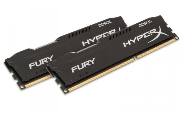 Kingston HyperX 8GB DDR3L-1866 Kit, HX318LC11FBK2/8, Fury Black