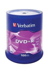 Verbatim DVD+R 4,7 GB 16x, 100 szt.