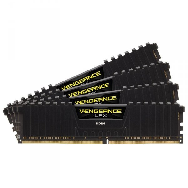 Corsair  64GB DDR4-2400 Quad-Kit, czarny, CMK64GX4M4A2400C14, Vengeance LPX