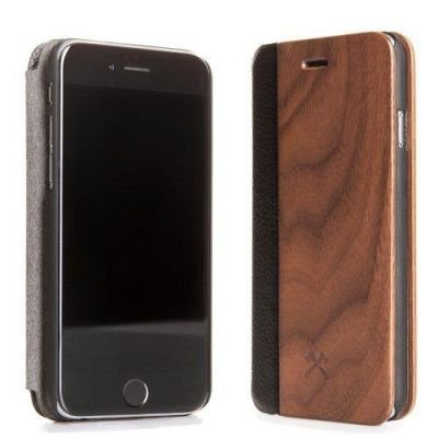 Woodcessories EcoFlip Business iPhone 7 walnut + leather