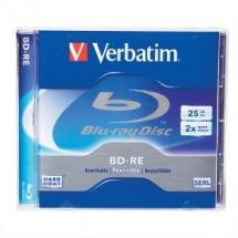 Verbatim BD-RE Blu-Ray Disc 25GB 2x Speed, Jewel Case