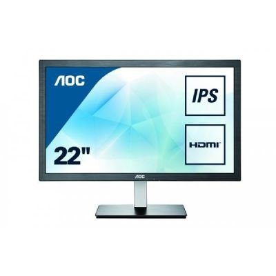 AOC i2276Vwm, czarny/srebrny, HDMI, VGA, Audio