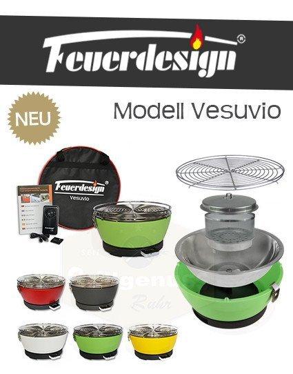 Feuerdesign Vesuvio stołowy grill węglowy biały / kremowy