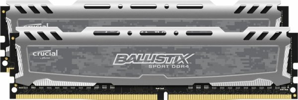 Crucial Ballistix Sport LT 32GB Kit 16GBx2 DDR4 2400 88pin grey