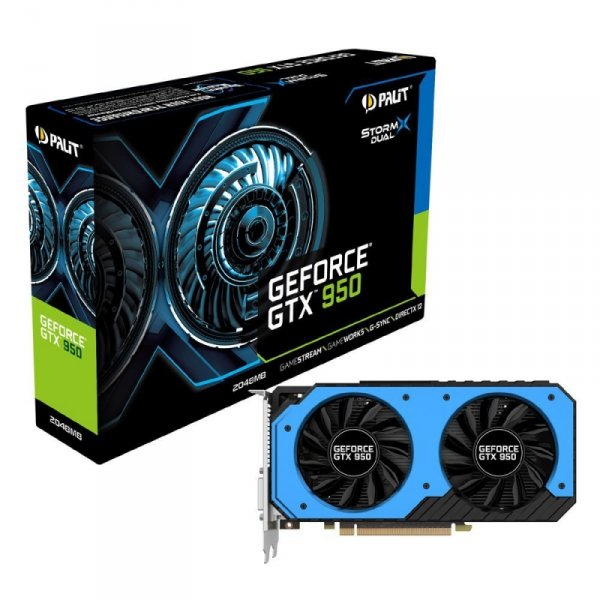 Palit GeForce GTX 950 StormX  2GB GDDR5, 2x DVI, HDMI, DisplayPort