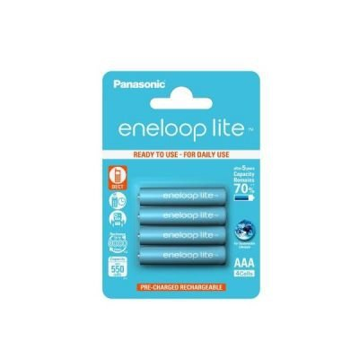 1x4 Panasonic Eneloop Lite Micro AAA 550 mAh