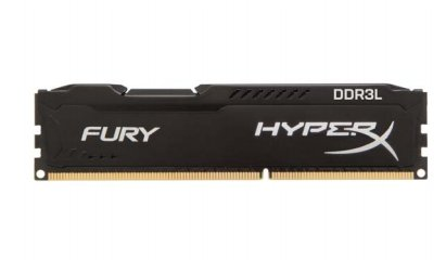 Kingston HyperX 8GB DDR3L-1600 Kit, HX316LC10FBK2/8, Fury Black
