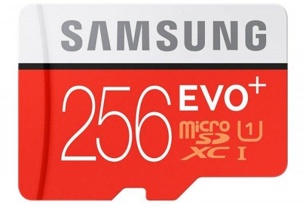 Samsung microSDXC Class 10 256GB Evo+ with Adapter