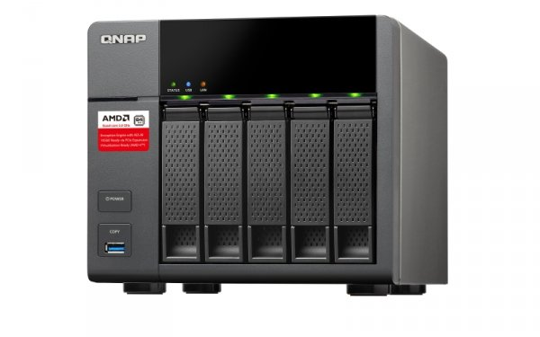 QNAP Systems TS-563-2G [0/5 HDD/SSD, 2x Gigabit-Lan, 5x USB]