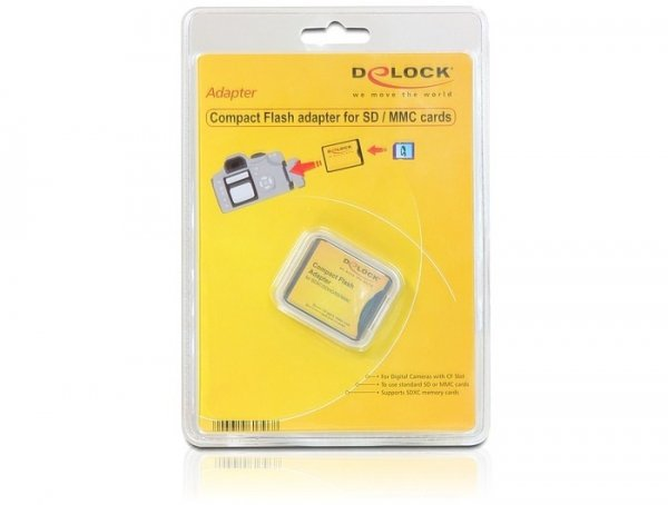 DeLOCK Compact Flash Adapter dla SD/MMC